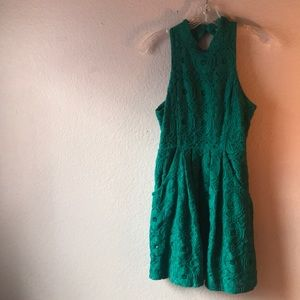 Urban outfitters teal dress